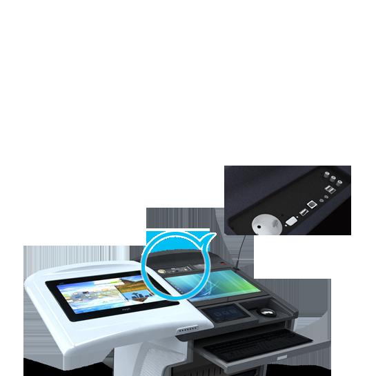 Интерактивная трибуна AHA elf-72G на панели доступны все интерфейсы для подключения внешнего оборудования
