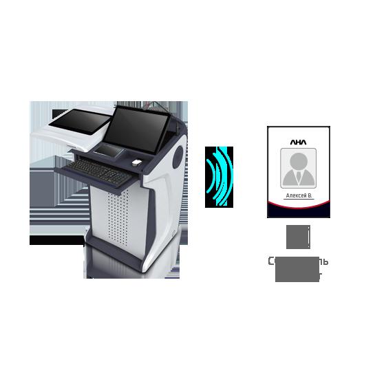 Интерактивная трибуна AHA elf-72G встроен считыватель RFID-карт