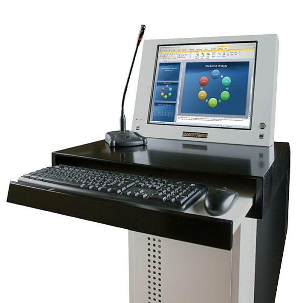 Интерактивная кафедра SMARTONE EGO19 с клавиатурой на выдвижной полке