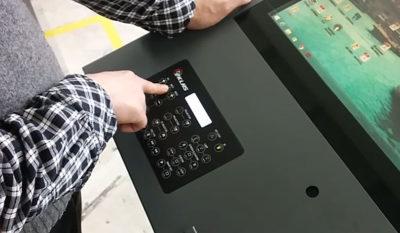 Мультимедийная трибуна PK-220Q панель управления