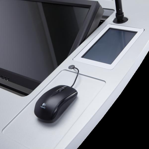 Мультимедийная трибуна BARO Sabio-220D/Sabio-220S ЖК-экран системы управления и удобное место под мышь