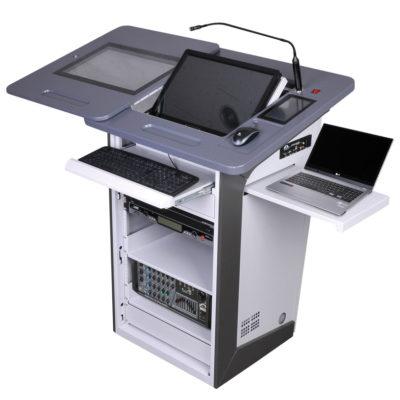 Мультимедийная трибуна PK-220D/190D с ноутбуком на подставке