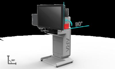 Интерактивный подиум AHA, экран наклоняется на 90 градусов