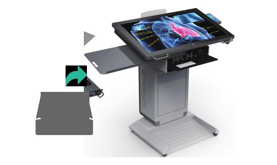 В интерактивный подиум AHA встроен в компьютер