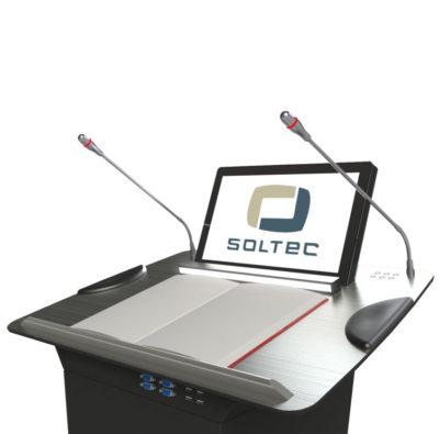 Кафедра для выступлений SOLTEC вид на столешницу сбоку