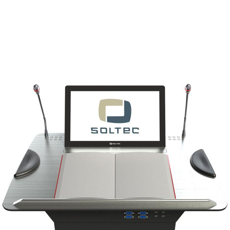 Кафедра для выступлений SOTEC SLTN156S-10 вид на столешницу со стороны докладчика